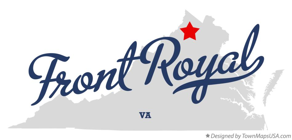 Map of Front Royal Virginia VA