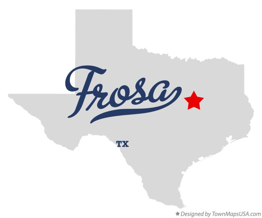 Map of Frosa Texas TX