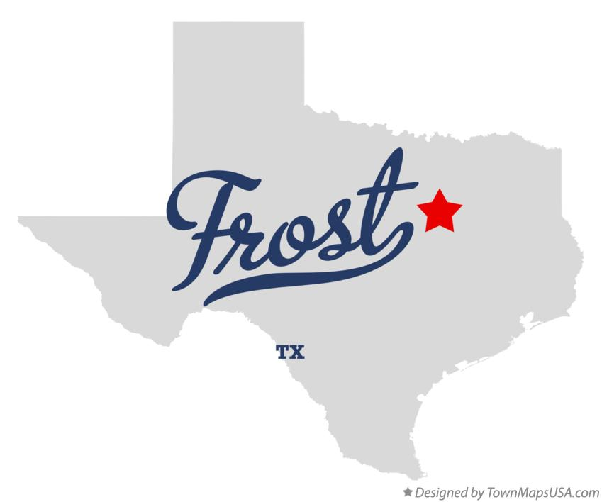 Map of Frost Texas TX