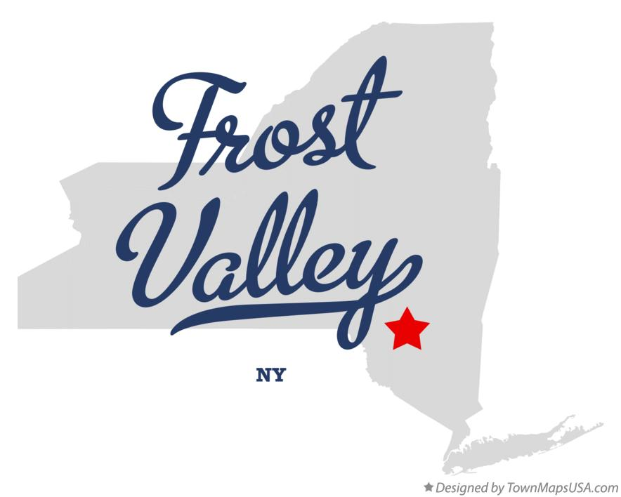 Map of Frost Valley New York NY