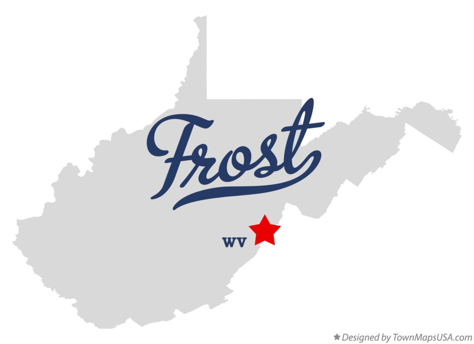 Map of Frost West Virginia WV