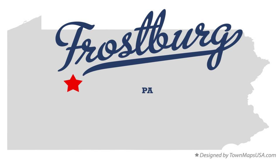 Map of Frostburg Pennsylvania PA