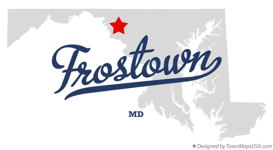 Map of Frostown Maryland MD