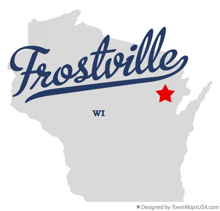 Map of Frostville Wisconsin WI