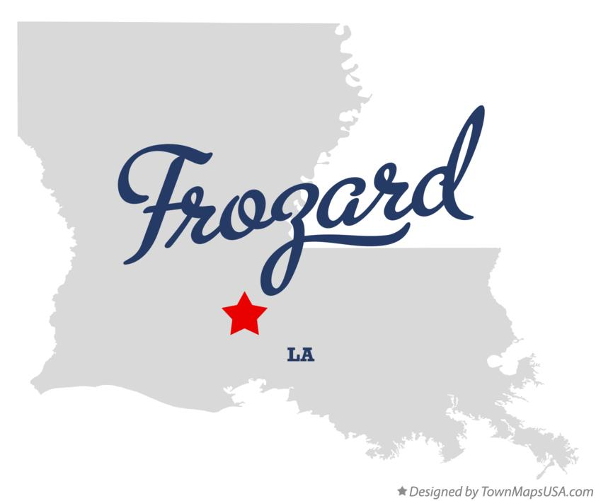 Map of Frozard Louisiana LA