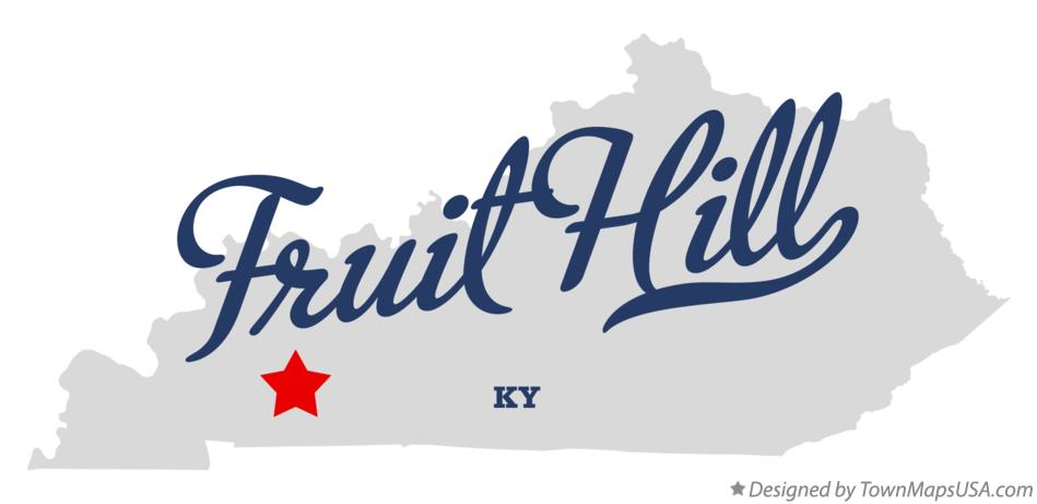 Map of Fruit Hill Kentucky KY