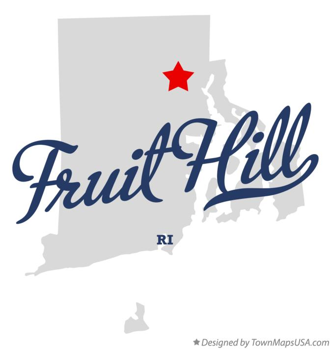 Map of Fruit Hill Rhode Island RI