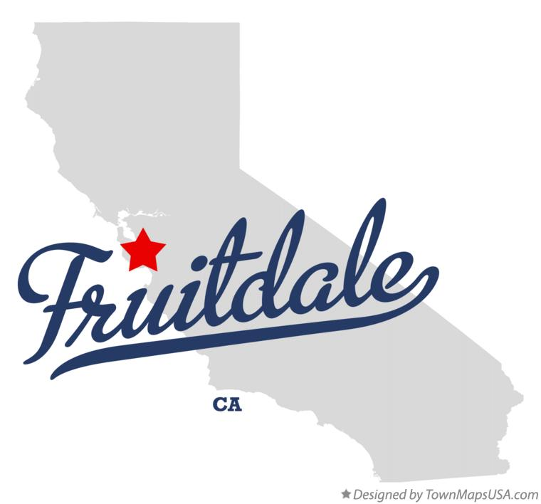 Map of Fruitdale California CA