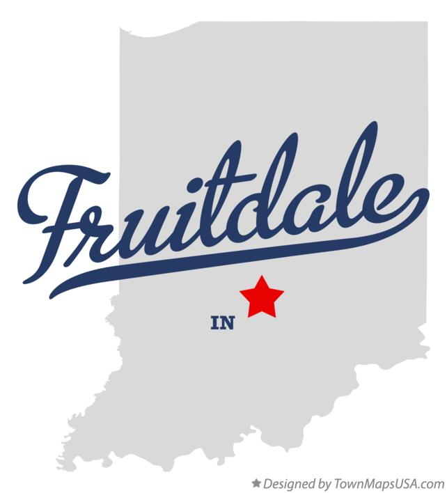 Map of Fruitdale Indiana IN