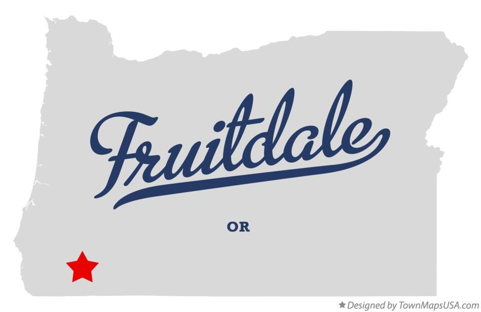 Map of Fruitdale Oregon OR