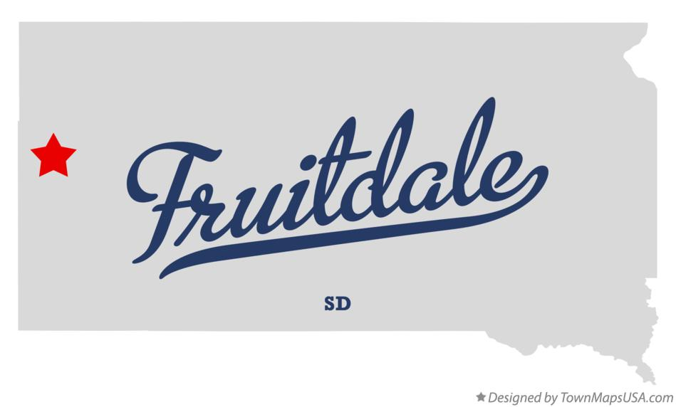 Map of Fruitdale South Dakota SD