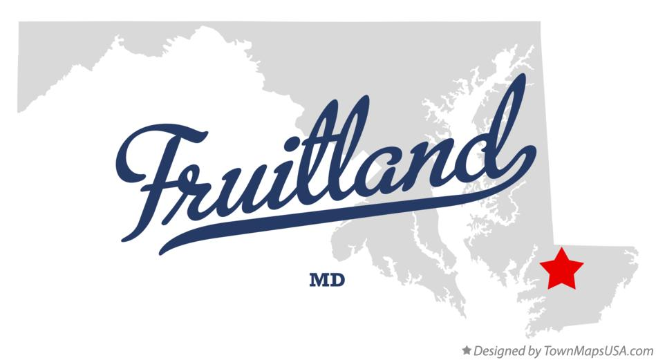 Map of Fruitland Maryland MD