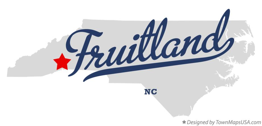 Map of Fruitland North Carolina NC