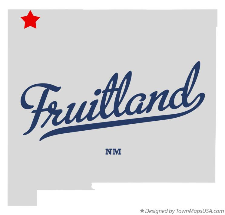 Map of Fruitland New Mexico NM