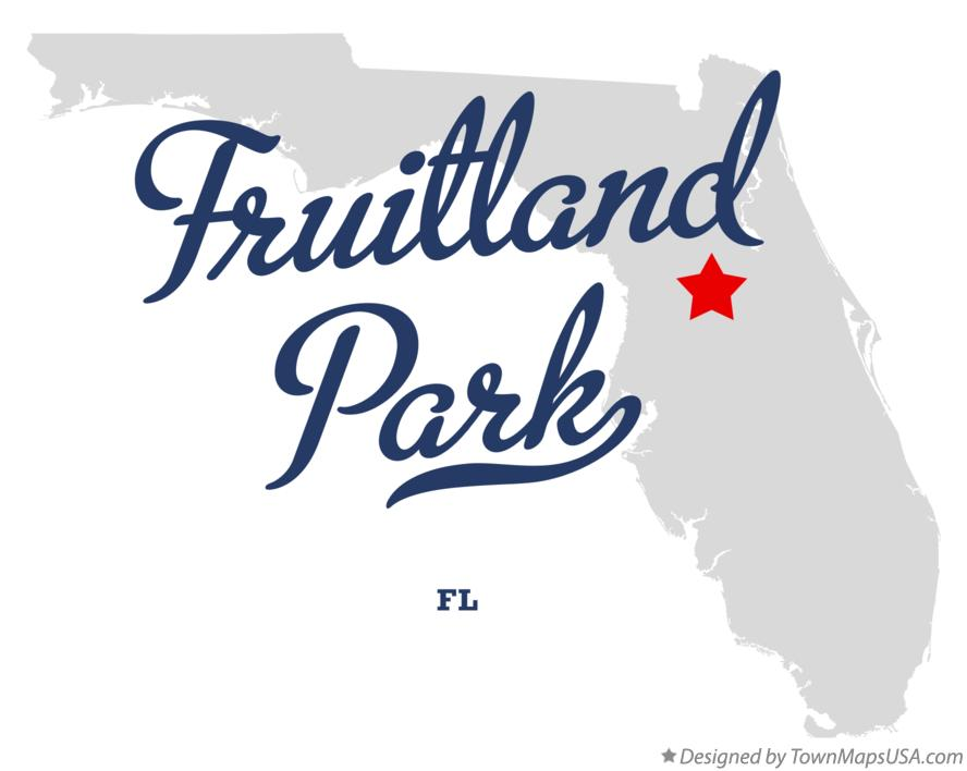 Map of Fruitland Park Florida FL