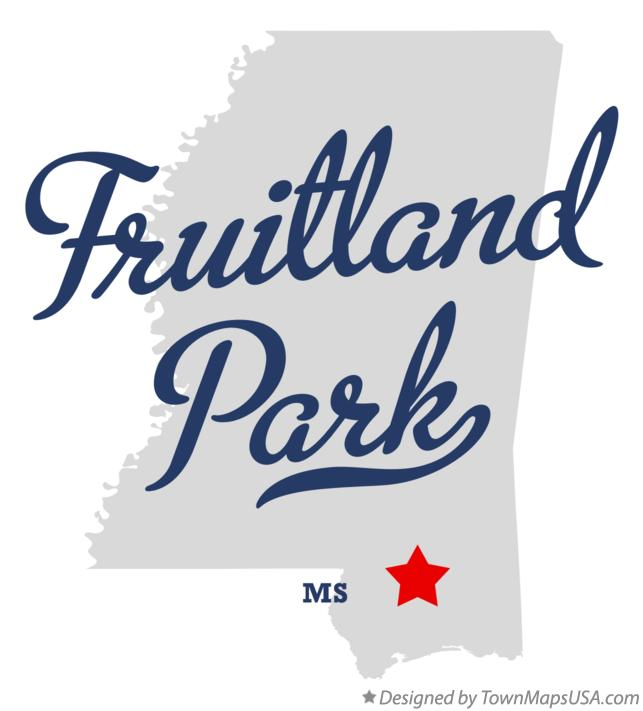 Map of Fruitland Park Mississippi MS
