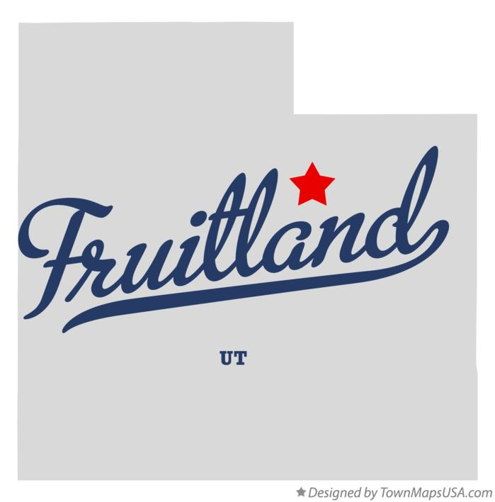 Map of Fruitland Utah UT