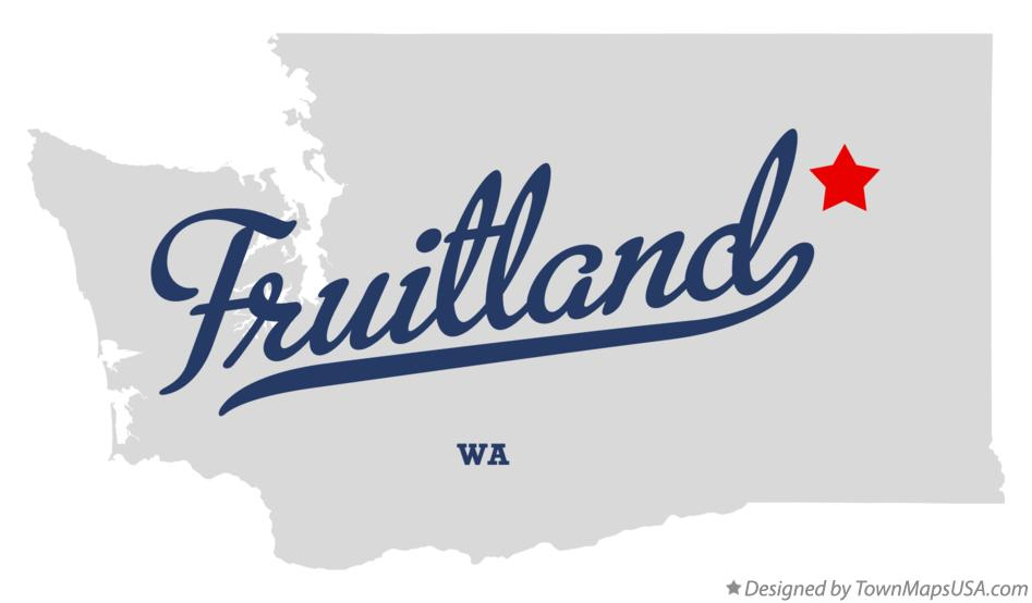 Map of Fruitland Washington WA