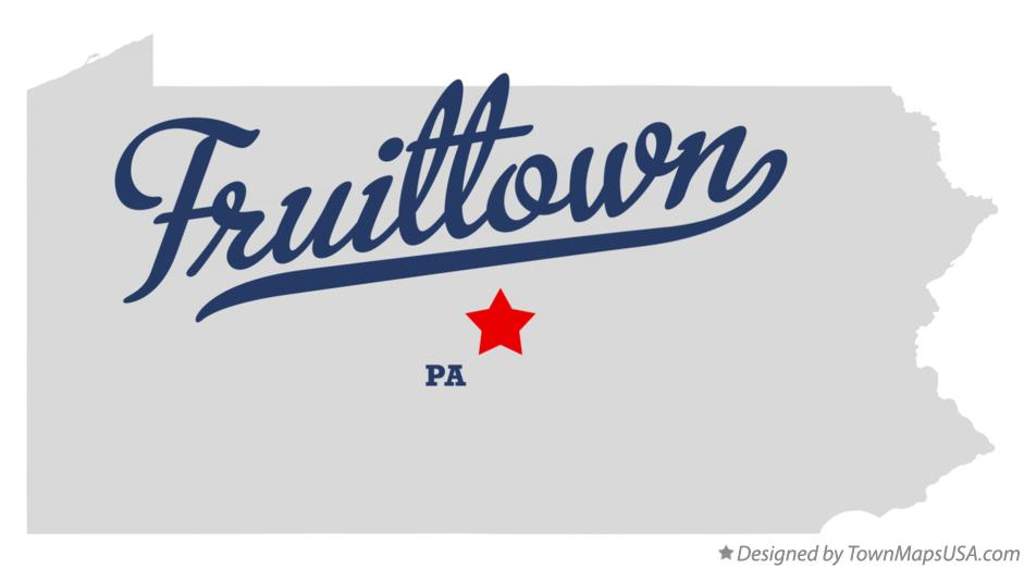 Map of Fruittown Pennsylvania PA