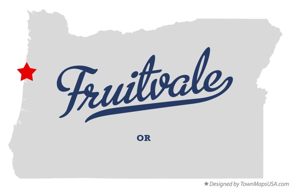 Map of Fruitvale Oregon OR