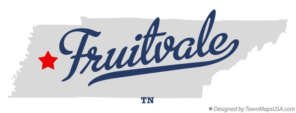 Map of Fruitvale Tennessee TN