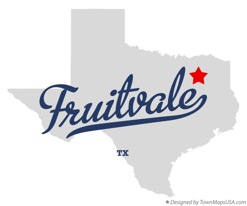 Map of Fruitvale Texas TX