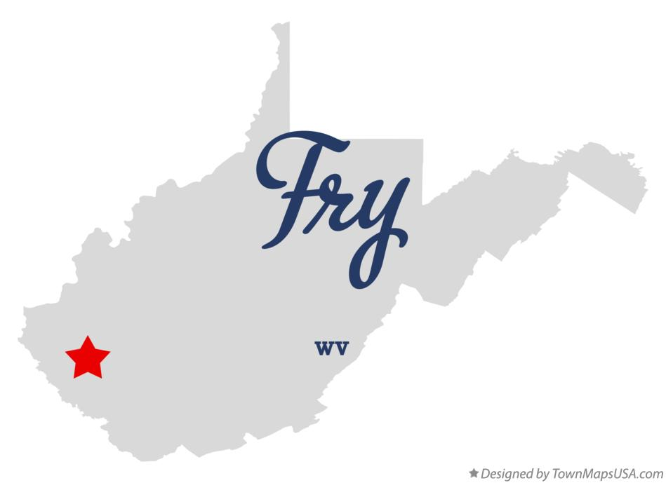 Map of Fry West Virginia WV