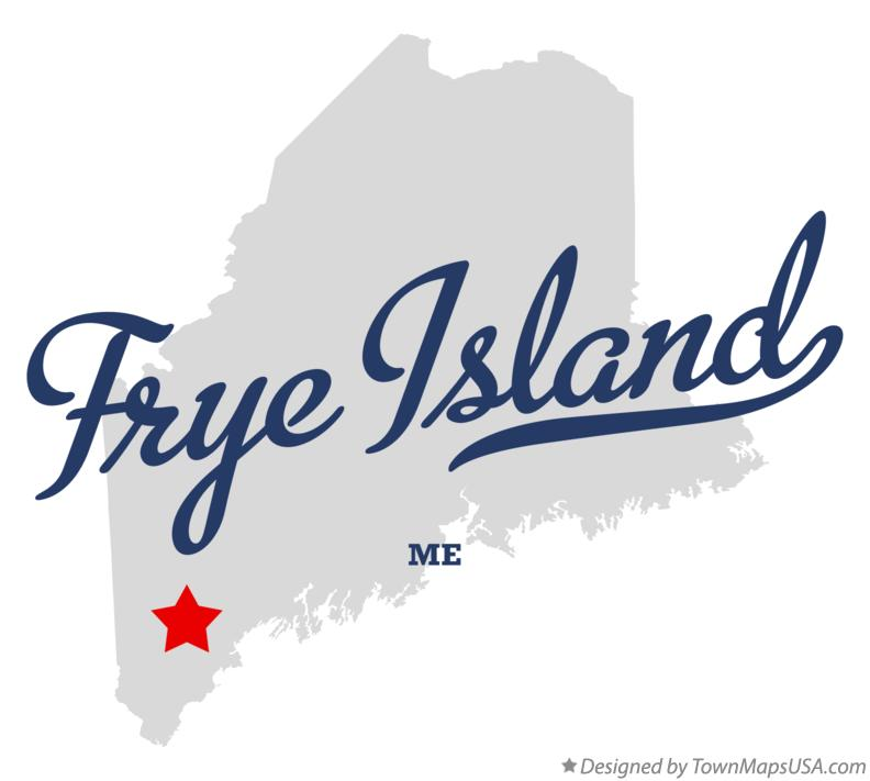 Map of Frye Island Maine ME