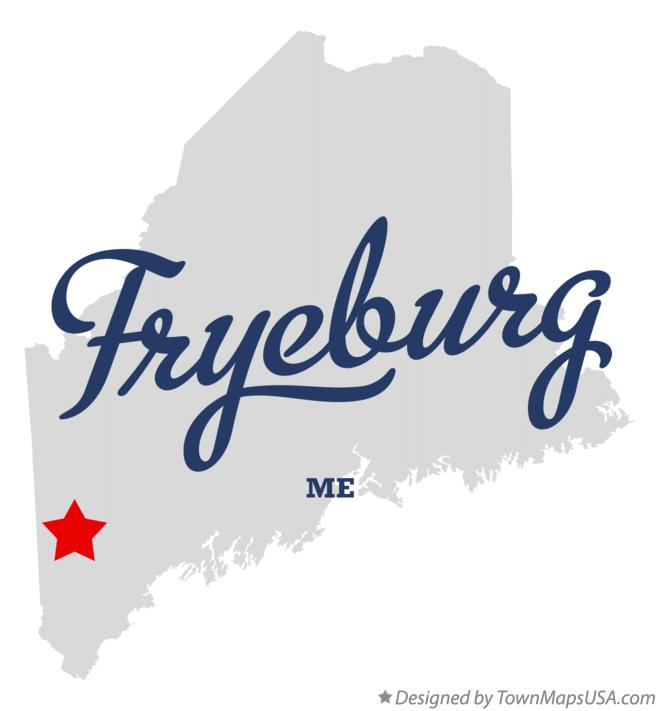 Map of Fryeburg Maine ME
