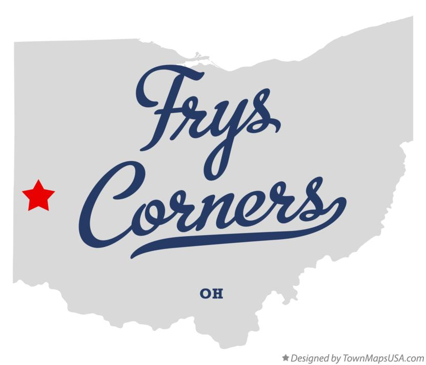 Map of Frys Corners Ohio OH