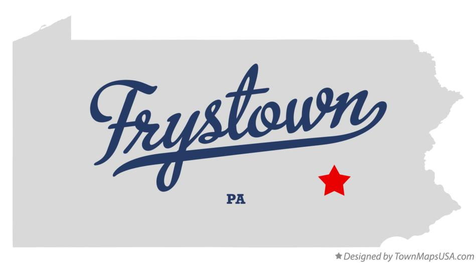Map of Frystown Pennsylvania PA