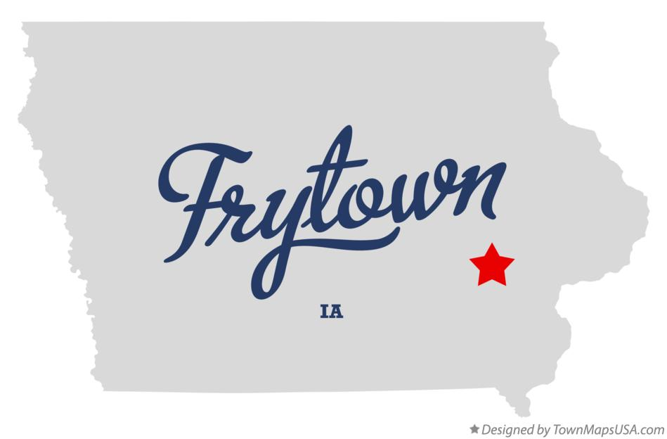 Map of Frytown Iowa IA