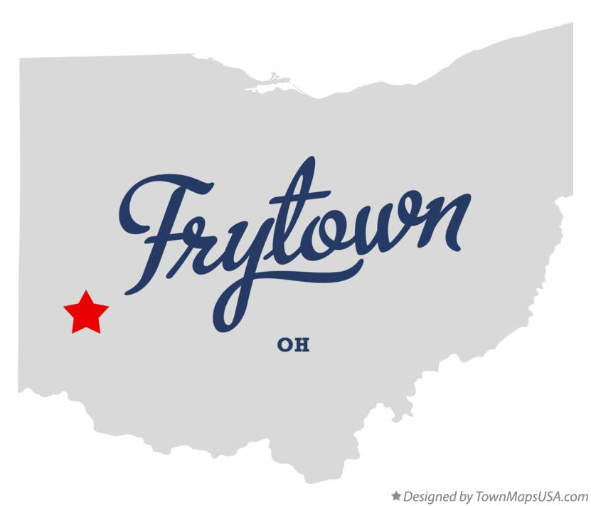 Map of Frytown Ohio OH