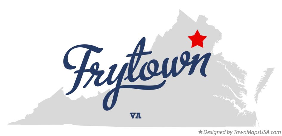 Map of Frytown Virginia VA