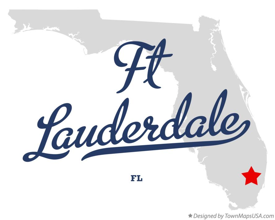Map of Ft Lauderdale Florida FL