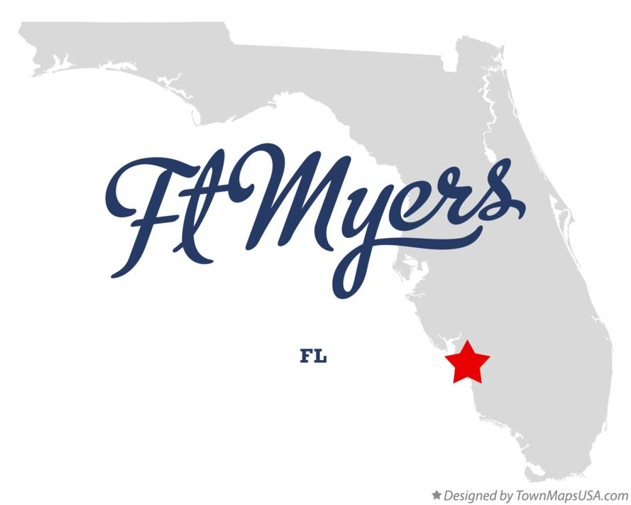 Map of Ft Myers Florida FL