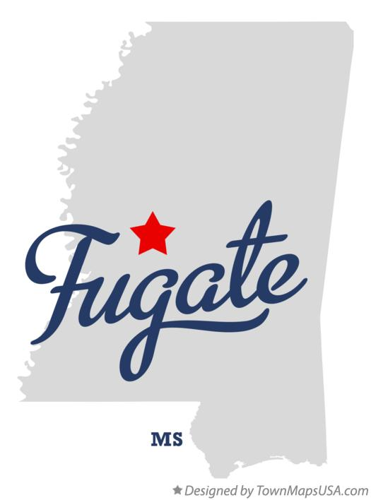 Map of Fugate Mississippi MS