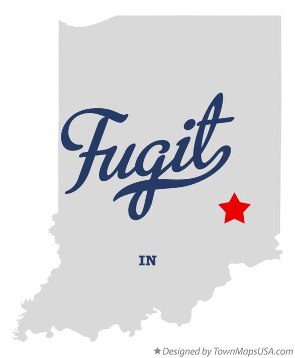 Map of Fugit Indiana IN