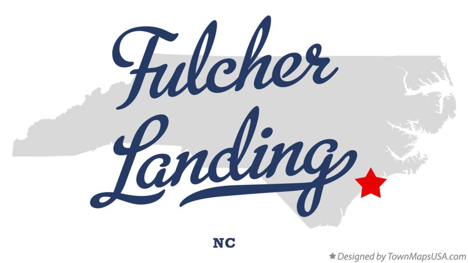 Map of Fulcher Landing North Carolina NC