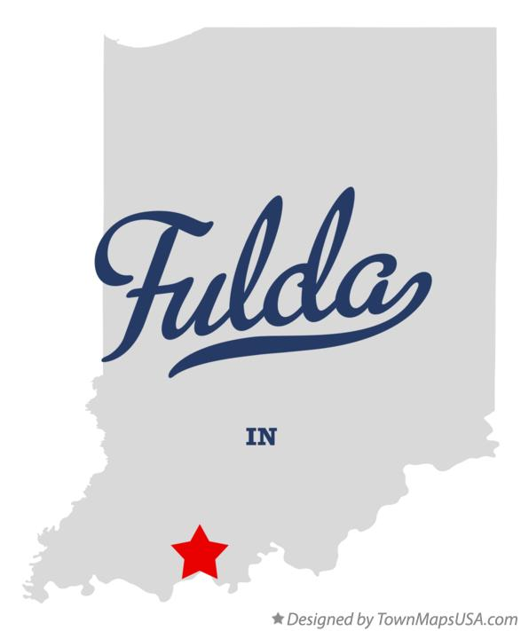 Map of Fulda Indiana IN