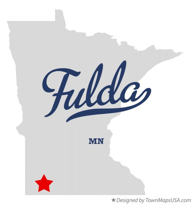 Map of Fulda Minnesota MN