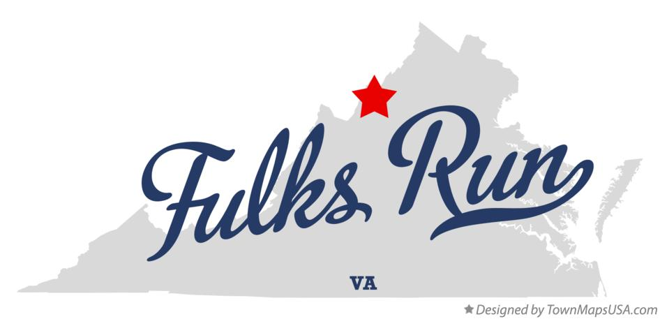 Map of Fulks Run Virginia VA
