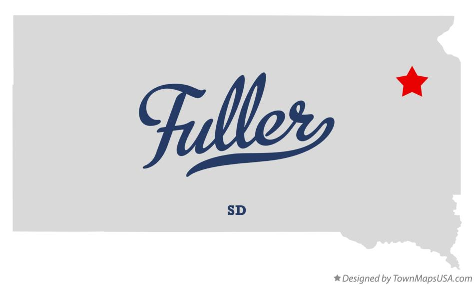 Map of Fuller South Dakota SD