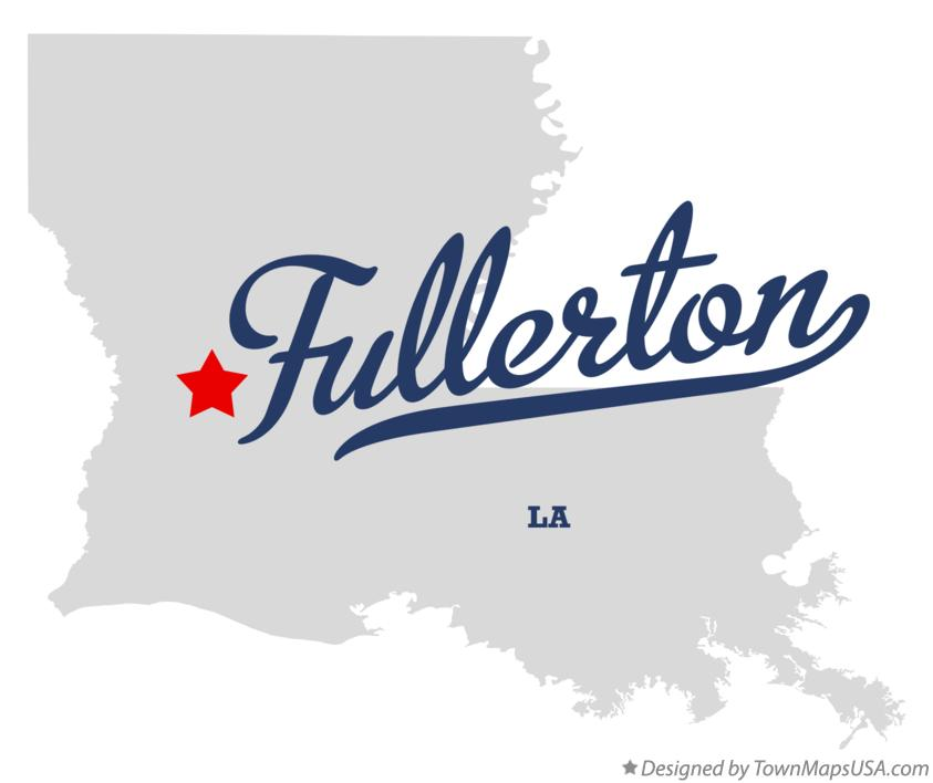 Map of Fullerton Louisiana LA