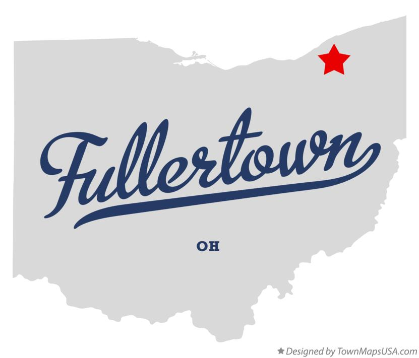 Map of Fullertown Ohio OH