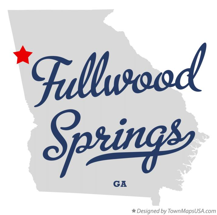 Map of Fullwood Springs Georgia GA