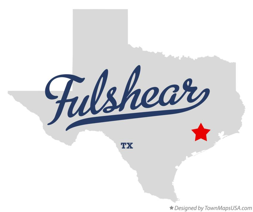 Map of Fulshear Texas TX