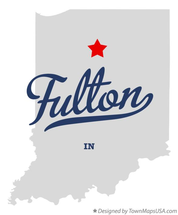 Map of Fulton Indiana IN