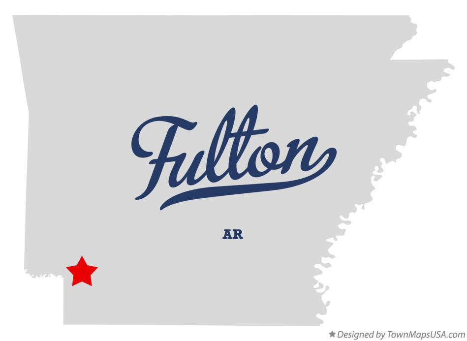 Map of Fulton Arkansas AR