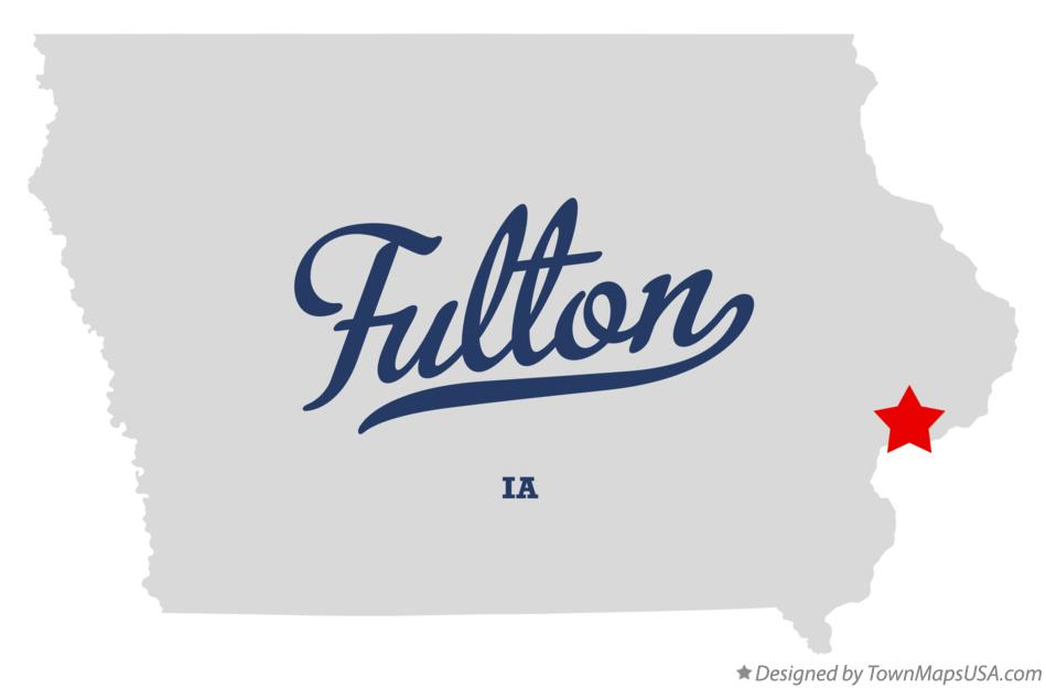 Map of Fulton Iowa IA